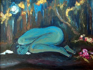 """Woman in Grief"" by Animesh Roy"