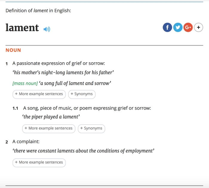 lament-definition